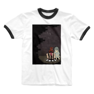 いぬとわたし Ringer T-shirts