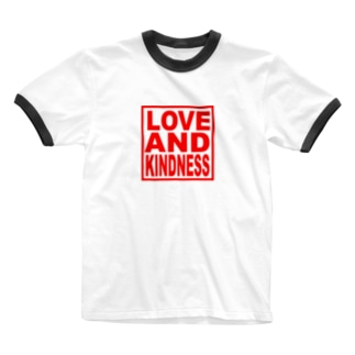 LOVE AND KINDNESS LED Ringer T-shirts
