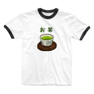 お茶 Ringer T-shirts