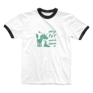 ペット*ユニコーン Ringer T-shirts