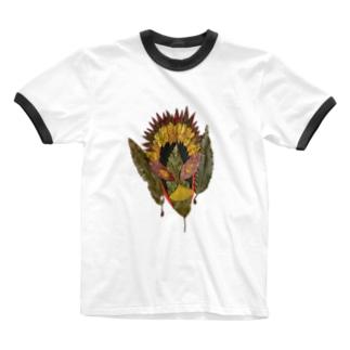 心の中の顔 Ringer T-shirts