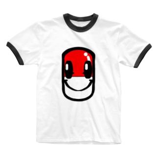 エガオはクスリ Ringer T-shirts