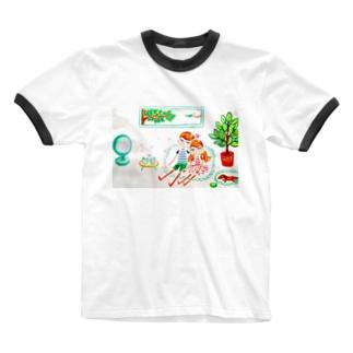 ハッピー♡タイム(B)🧡ⅭoⅭo&TaTa Ringer T-shirts