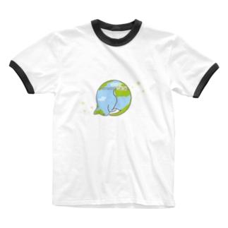 猫星☆にゃんこスター Ringer T-shirts