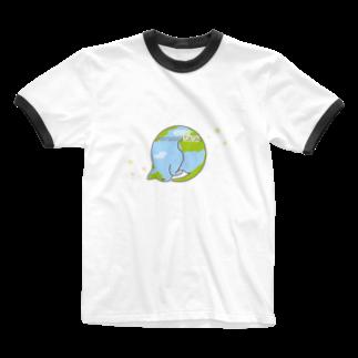 ねこまんがピッコロリンゴロの猫星☆にゃんこスター Ringer T-shirts