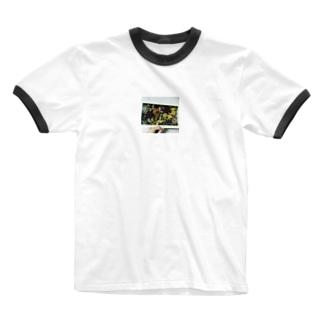 Flower Box Ringer T-shirts