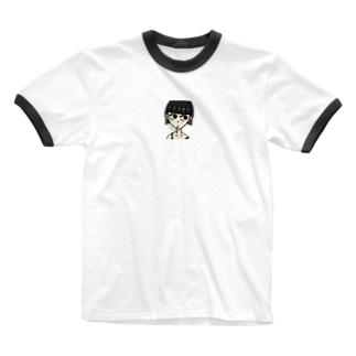 ヘビースモーカーガール Ringer T-shirts