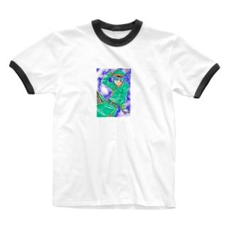 軍服イケメン Ringer T-shirts