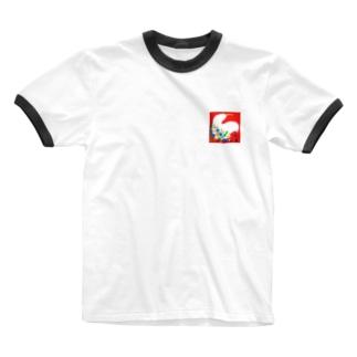 花かご Ringer T-shirts