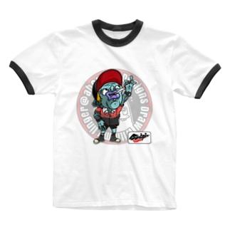もんすたーgang Ringer T-shirts