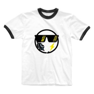 パ紋No.3426 稲妻 Ringer T-shirts