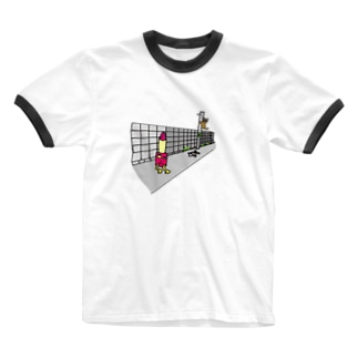 口紅星人 Ringer T-shirts