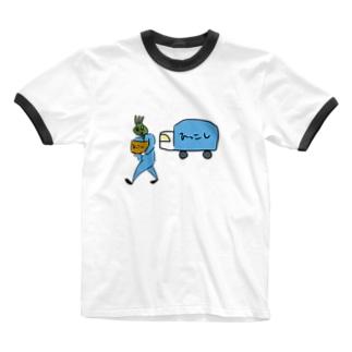 ひっこし屋 Ringer T-shirts