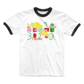 借金 Ringer T-shirts