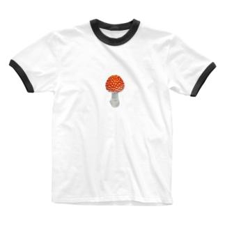 ベニテングダケ・毒キノコ Ringer T-shirts