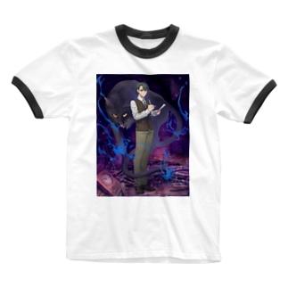 黒猫怪奇探偵事務所 Ringer T-shirts