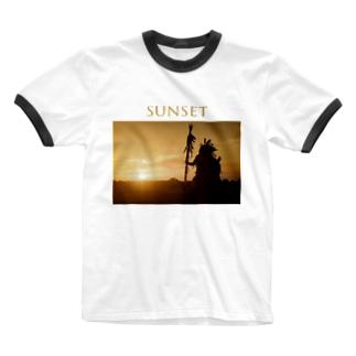 インディアンsunset Ringer T-shirts