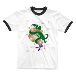 小槌の福龍B Ringer T-shirts