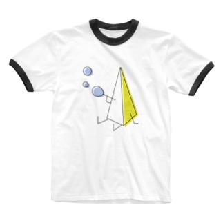 さんかくん Ringer T-shirts