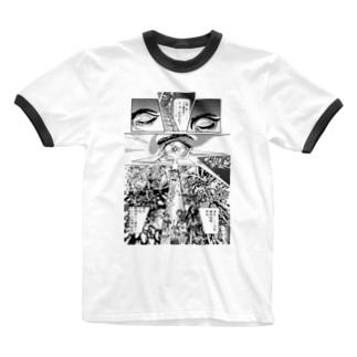 """宮西計三『エレベーション Sa・Yo・Na・Ra』 """"Laser-Eye"""" Ringer T-shirts"""