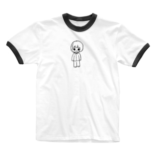 絵のごいちゃん Ringer T-shirts