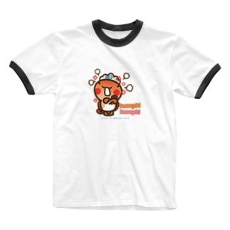 邑南町ゆるキャラ:オオナン・ショウ『humph! humph!」』 Ringer T-shirts