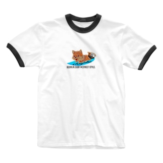 REGALIA dog surf Ringer T-shirts