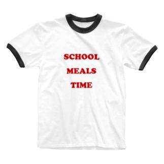 おいしい給食 POPロゴ Ringer T-shirts