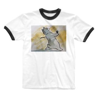 ボヘミアン・ニャプソディ Ringer T-shirts