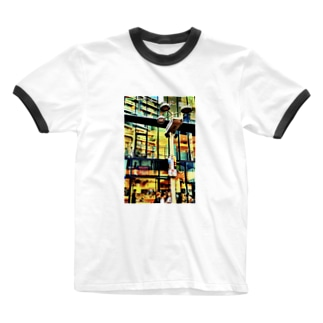 センター街 Ringer T-shirts