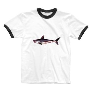 悲しい鮫パーカー Ringer T-shirts