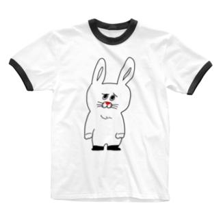 うったえるウサギ Ringer T-shirts