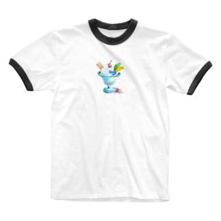 パステルなパフェ~ Ringer T-shirts