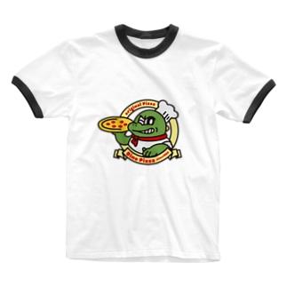 ディノピザ Ringer T-shirts