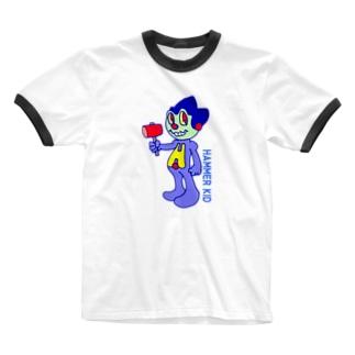 ハンマーキッド Ringer T-shirts