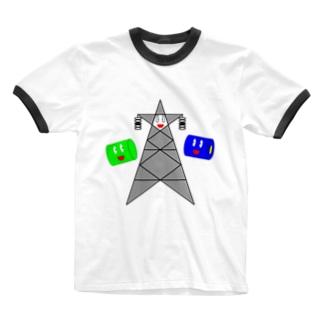 鉄塔☆スターとンルタロン Ringer T-shirts
