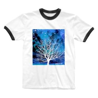 Bluesky★01 Ringer T-shirts