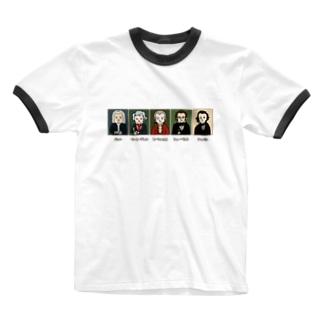 音楽室の肖像画 Ringer T-shirts