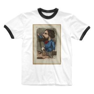 「Gustave Courbet」 Inconnu/Paris Musées Ringer T-shirts