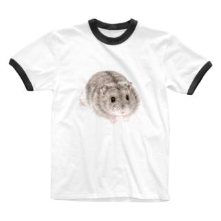 ジャンガリアンハムスターB Ringer T-shirts