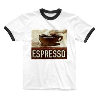 エスプレッソ1 Ringer T-shirts