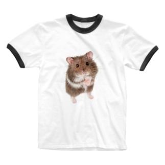 キャンベルハムスター Ringer T-shirts