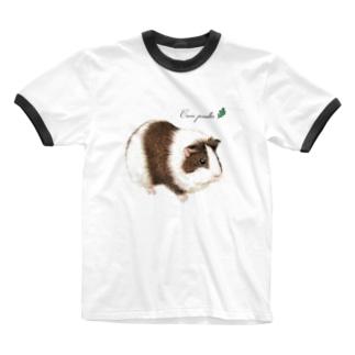 モルモット Ringer T-shirts