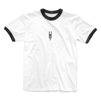 Tsubara Hayashi Official Logo 【White】 Ringer T-shirts