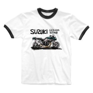 スズキGSX Ringer T-shirts