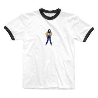 長髪のポップマエストロ Ringer T-shirts
