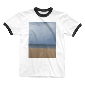 瀬戸の海 Ringer T-shirts