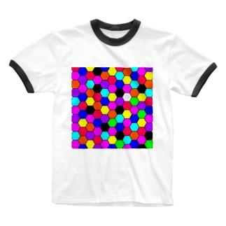 カラフル Ringer T-shirts