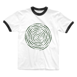 ぐるぐるヘビ Ringer T-shirts