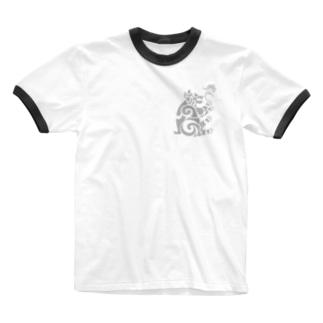 中南米風のクマ Ringer T-shirts